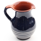 ABS Terracotta Traditional Jug (Blue w/Cream Swirl)