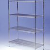 Nylon Wire Shelves 4 Tier 1200mm x 400mm