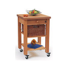 Single Drawer Beechwood Trolley With Baskets