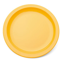 Plate Narrow Rim Yellow 23cm Polycarbonate