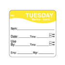 Daymark label Tuesday Removable Square 5.1cm