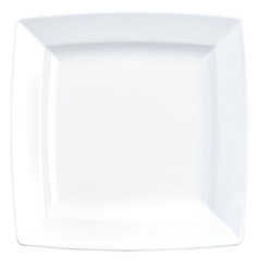 Energy Plate Square White 17.8 x 17.8cm