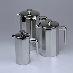 Stainless Steel Cafetiere 12 Sided 6 Cup