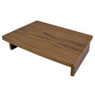 Walnut Veneer Nested Table Riser 53.2x35.5x12cm
