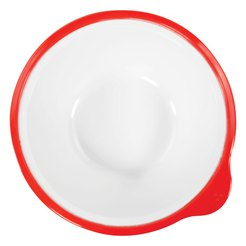 Omni White Bowl with Red Rim 180x170x50mm 400ml