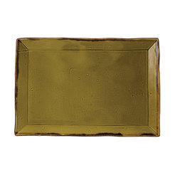 Harvest Rectangular Tray Green 11 1/4 x 7 1/2 inch