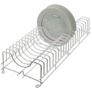 Plate Rack Plastic Coated Wire Holds 20 Plates