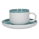 290ml Tea Cup And Saucer Retro Blue