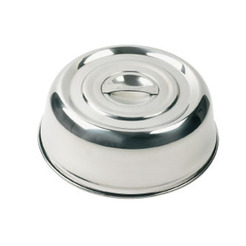 Plate Cover Stainless Steel Round 26.5cm