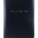A4 Menu & Wine List Cover Navy 4 Sides To View