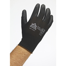 Keep Safe Black PU Palm Coated Black Glove