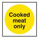 Cooked Meat Only Catering Vinyl Sticker