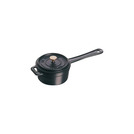 Saucepan / Pot Black Cast Iron Round 25cl 10cm