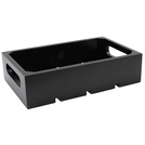 1:1 Gastro Serving & Display Crate, Black.