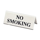 Tent Table Sign Black On White No Smoking
