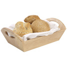 Handled Serving Tray Hevea Wood 31 x 18 x 9.8cm