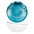 Blue Larnaca Sand Melamine Curved Bowl 144x141x70mm