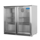 Arctica Silver Double Door Bottle Cooler