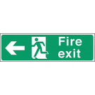 Safety Sign Fire Exit Left Arrow