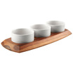 Classic Athena Serving Board 3 Relish Bowls