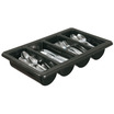 Cutlery Box Polypropylene 4 Compartments Black