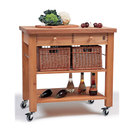 Two Drawer Beechwood Trolley With Baskets