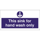 Kitchen Sink Safety Sign Wash Hands