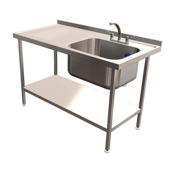 Quick Service Single 79L Sink LH Drain 1400x700mm