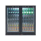 Lec LED Bottle Cooler Double Door Black