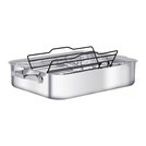 Stainless Steel Roasting Pan With Meat Rack