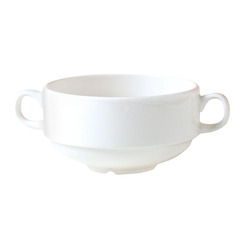 Monaco Handled Soup Cup White Stackable 28.5cl