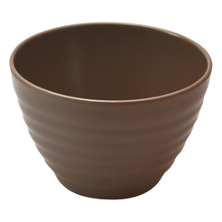 Stone Melamine Rippled Bowl 65cl