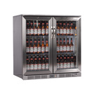 Lec Eco LED U/Counter Bottle Cooler S/S 2 Door