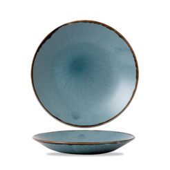 Harvest Blue Deep Coupe Plate 28.1cm 11 inch