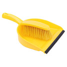 Dustpan And Brush Set Stiff Brush Yellow