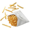 Froisse Fries Sachet Crumple 12 x 11 x 7cm