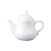 Chamonix & Dynasty Georgian Teapot White 38cl
