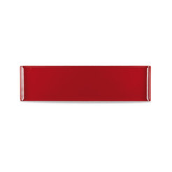 Buffet Tray Rectangular Melamine Red 56x15.3cm