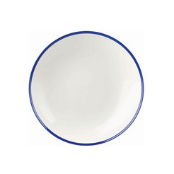 Retro Blue Coupe Bowl 12 inch 30.5cm