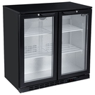 Blizzard BAR2 Bottle Cooler 2 Hinged Doors Black