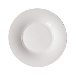 Aura Broad Rim Medium Well Plate White 30cm