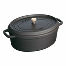 Casserole Black Cast Iron Oval 1ltr 17cm