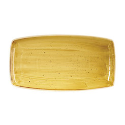 Mustard Seed Yellow Oblong Plate 35cm x 18.5cm