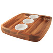 Classic Athena Serving Board 3 Sauce Bowls