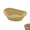 Oval Basket Curved Top Light Beige
