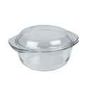 Casserole Clear Glass Round 1ltr