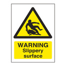 Warning Sign Slippery Surface