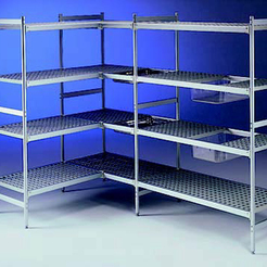 Connecta Polymer Shelves 4 Tier 772 x 373mm