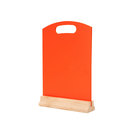 A4 Tabletop Menu Board Orange 32 x 21cm