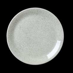 Steelite Ink Crackle Coupe Plate Grey 25.25cm